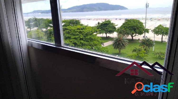 Vista mar praia do gonzaga 3 suites garagem santos sp