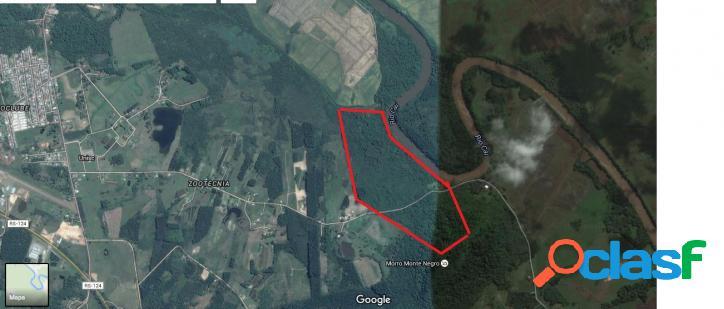 Área de terras com acesso direto ao rio caí