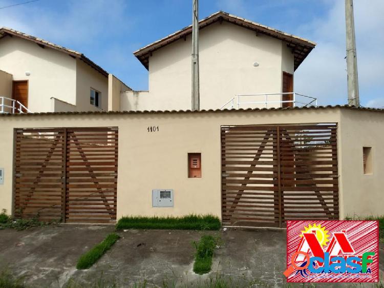 Casa nova 2dormitórios 1suite 115mil a vista em itanhaém na mendes