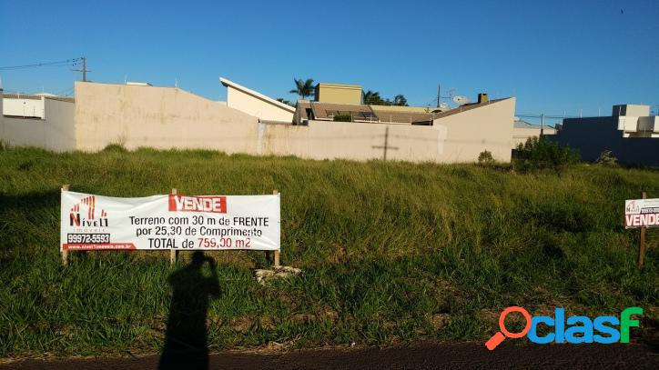 Terreno (comercial ou residencial) com 30,00m2 de frente -