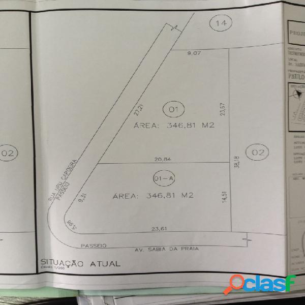 Terreno no parque veneza - rua uru-capoeira de 346,81 m2