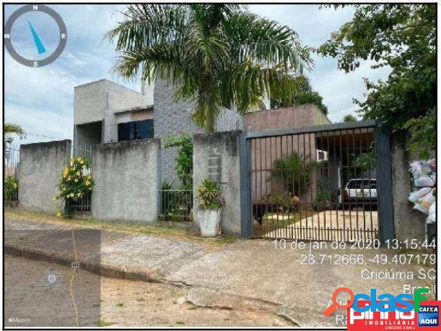 Casa 02 dormitórios, venda direta caixa, bairro primeira linha pontilhão, criciúma, sc