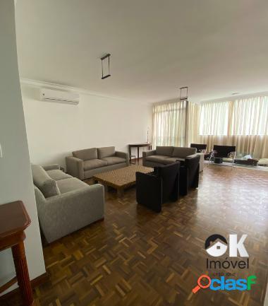Aluga apartamento: 240m², 3 quartos e 2 vagas - bairro jardins