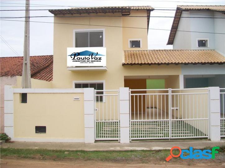 Casa duplex nova araruama rj areal 2 quartos sendo 2 suítes r$ 180.000,00