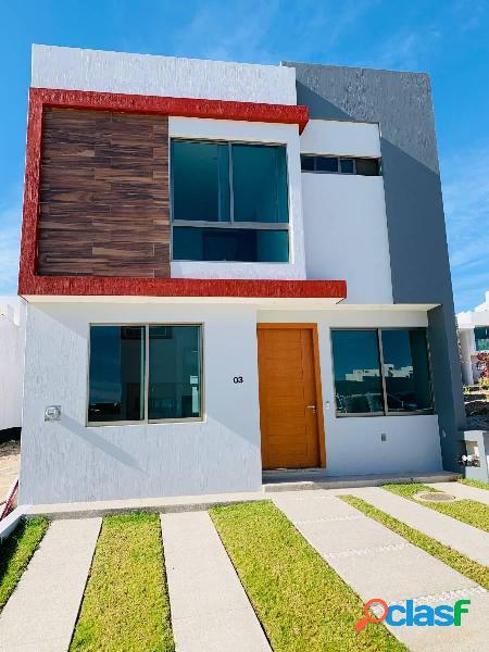 Casa nueva finos acabados de 4 recámaras, fracc. senderos de monte verde