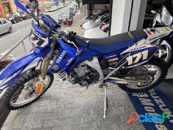 Yamaha wr 450f azul 2008 450 gasolina