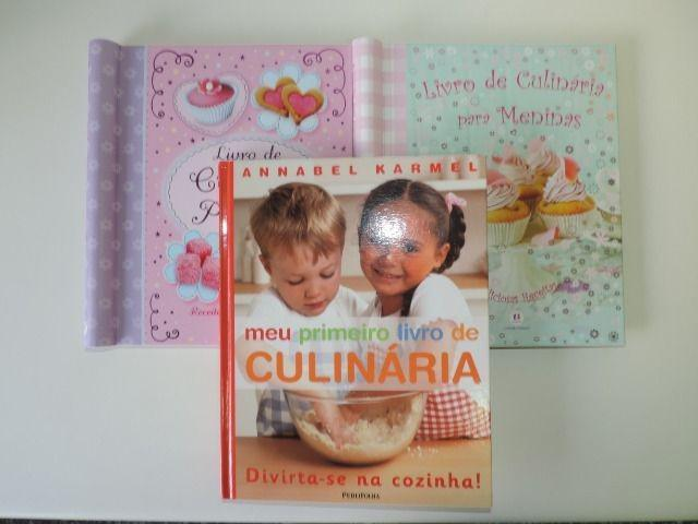 Kit com 3 livros de culinária para crianças