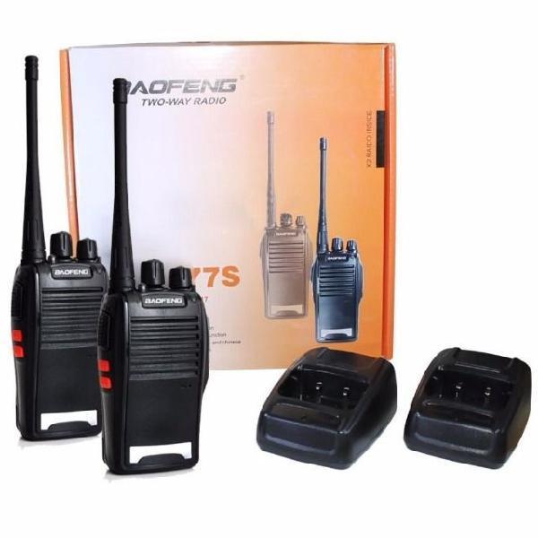 Rádio comunicador ht uhf 16 canais baofeng bf-777s