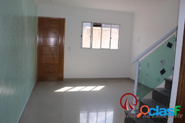 Casa sobrado novo em condomínio, 65 m², 1 vaga, 2 suítes - são mateus