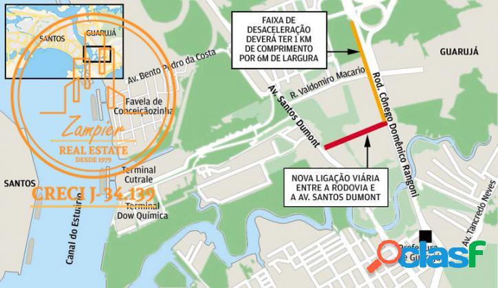 Área com 93.003m2 - conceição - guarujá