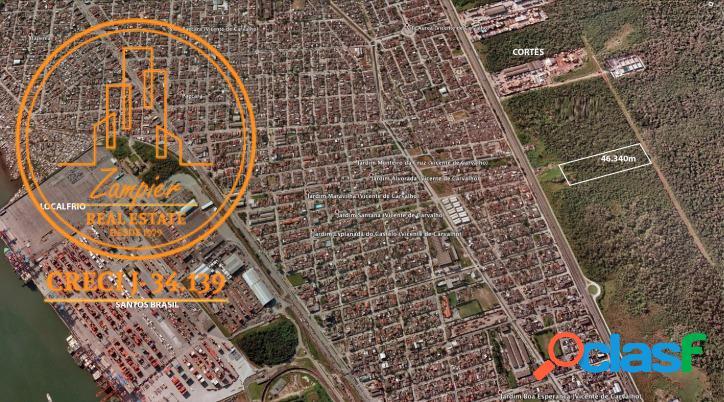 Terreno no guarujá com 46.340 m2 - guarujá