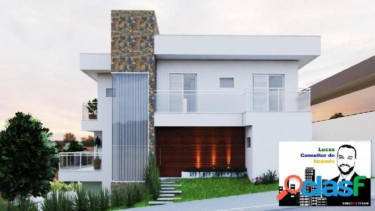 Projeto de construção de sobrado de 187 m² no residencial phytus