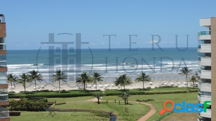 Apartamento novo, pé na areia, 3 suítes, 153 m²,riviera de são lourenço.