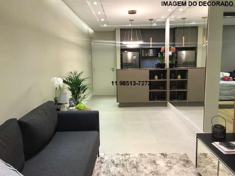 Apartamento lançamento 52m², 2 quartos, sacada grill e 1