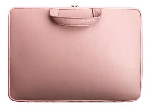 Capa case notebook couro ecológico c/ alça- rosê