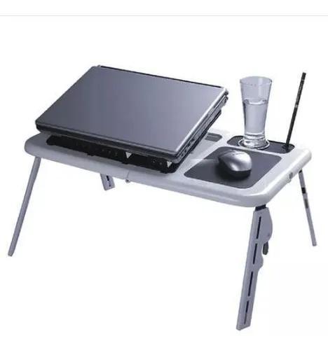Mesa para notebook dobrável com cooler usb base p/ mouse