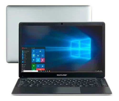 Notebook multilaser legacy 4gb 120gb ssd 14.1 pol hd cinza