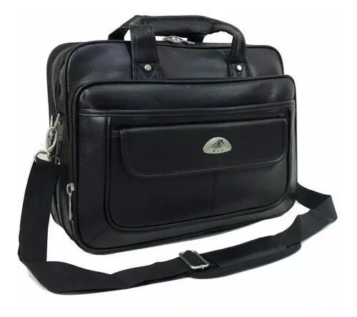 Pasta maleta bolsa kvn couro grande compartimento notebook