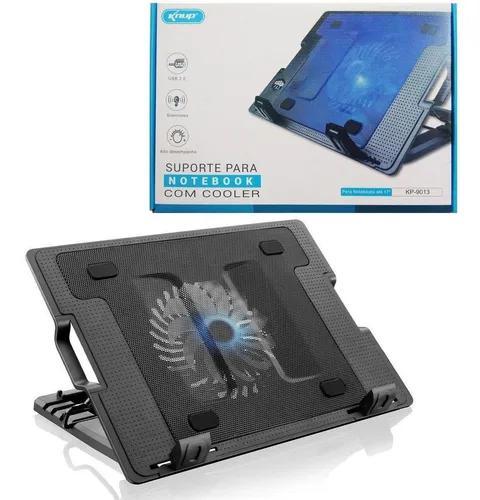 Suporte mesa base para notebook com cooler usb ergonômico