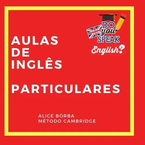 Aulas de inglês particulares