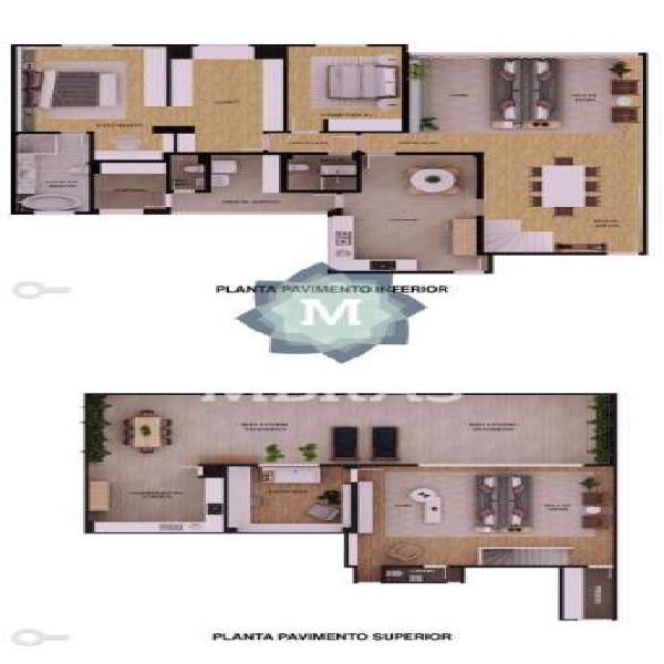 Cobertura duplex - 2 dorm 2 vagas - 7 min à pé metrô