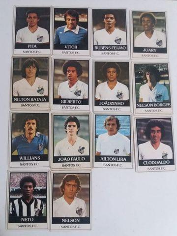 Figurinhas fuebol cards ping pong 1977/1978 santos e ponte