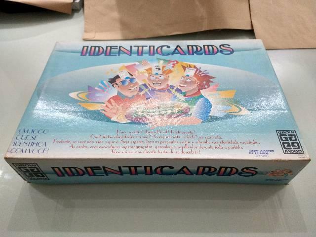 Identicards - jogo vintage anos 90 raro da grow p/