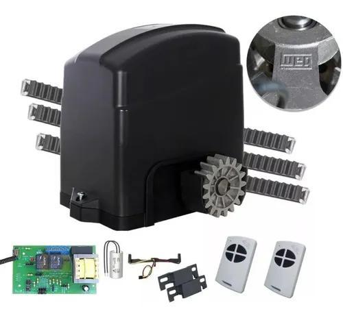 Kit motor portão deslizante agl 2 controles 3,5 cr