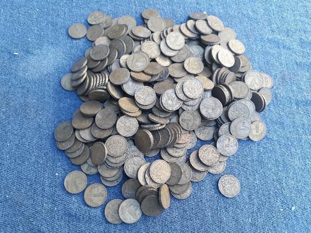 Lote de moedas 1 cruzeiro dos anos 1944 ao 1955