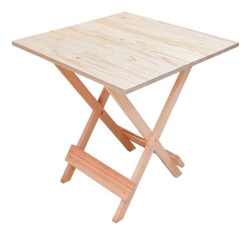Mesa dobrável bar e restaurante madeira maciça natural