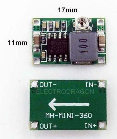 Regulador de tensão step down buck dc dc mini 360 3a