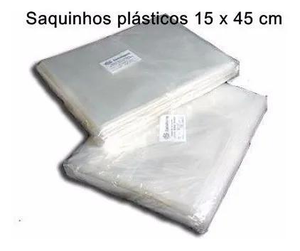 Saquinhos plásticos 15x45 p/