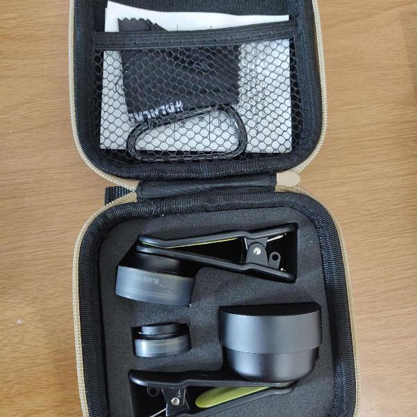 Black eye - travel kit - lentes para smartphone