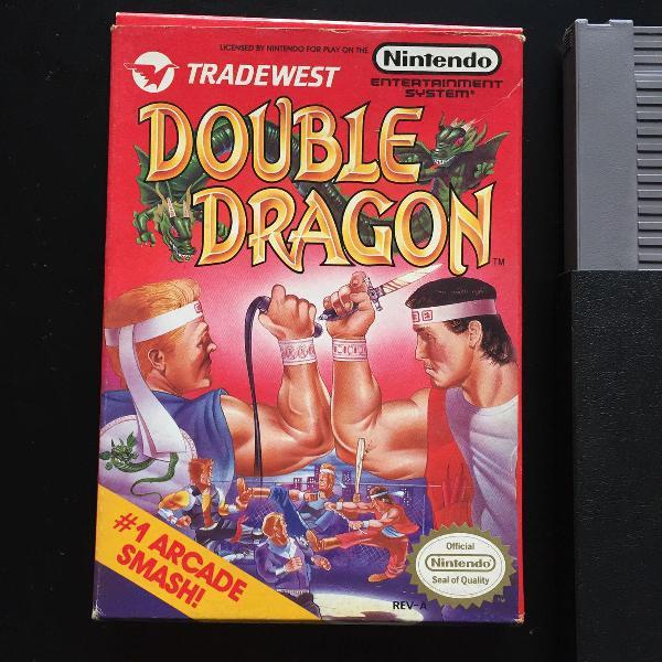 Double dragon nes original com caixa e manual