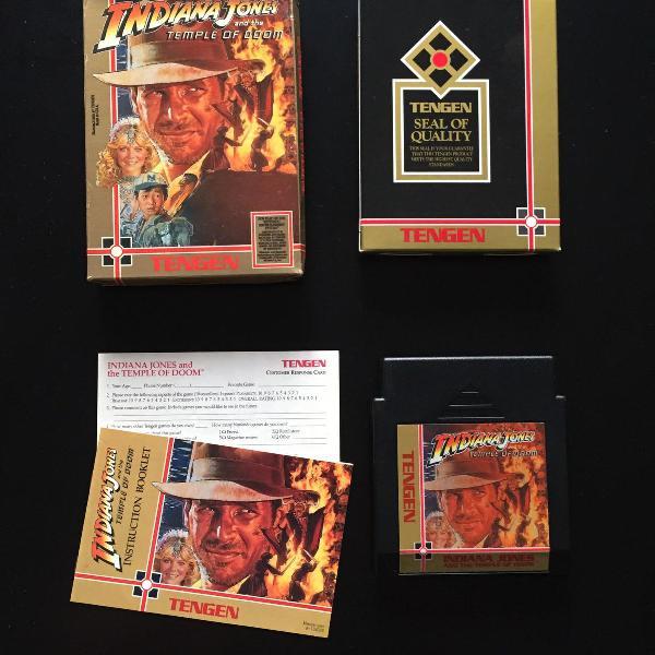 Indiana jones: the temple of doom nes original com caixa