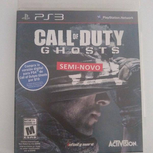 Jogo call of duty ghosts playstation 3 original