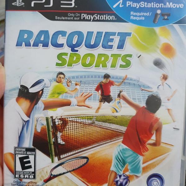 Jogo playstation 3 racquest esportes