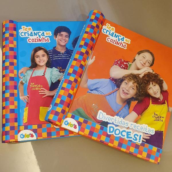 Kit de 2 livros tem criança na cozinha