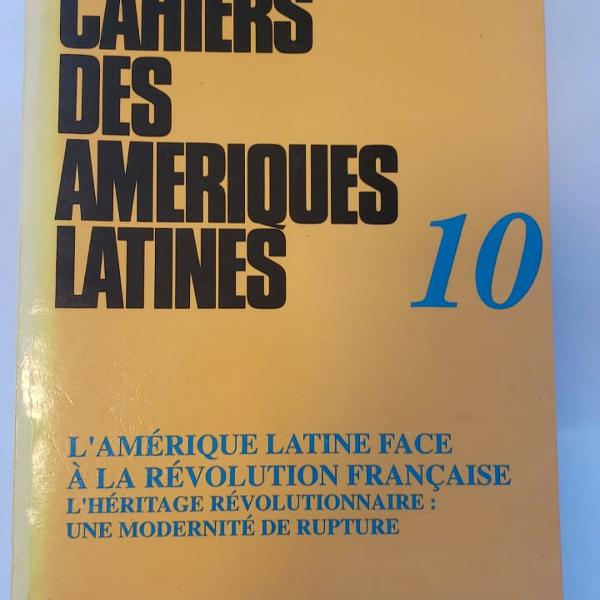 Livro cahiers des ameriques latines 10