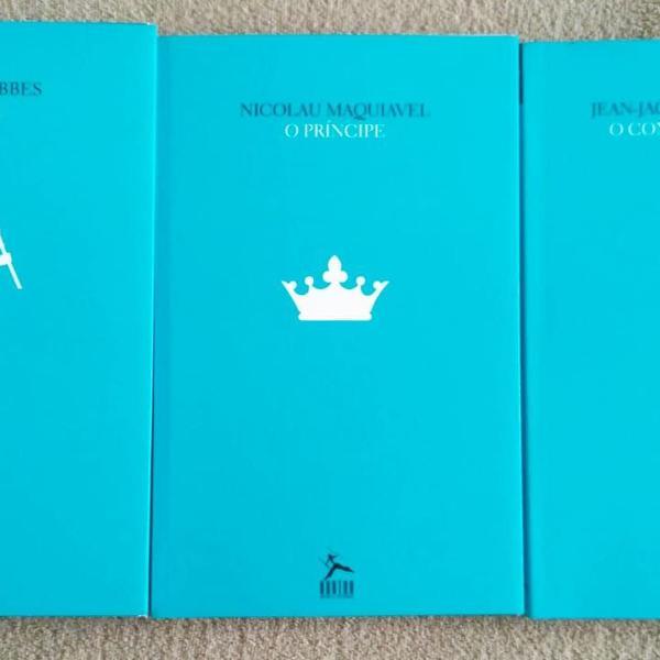 Livros o príncipe - leviatã - o contrato social - combo