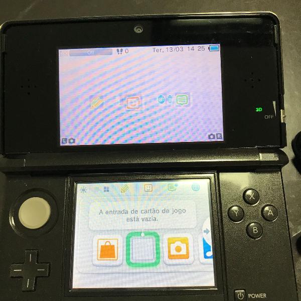 Nintendo 3ds console + 6 jogos - semi novo