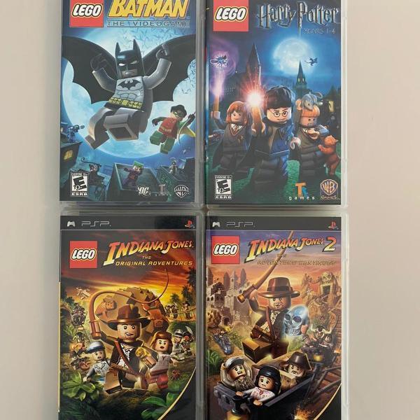 psp - pacote lego - 4 jogos