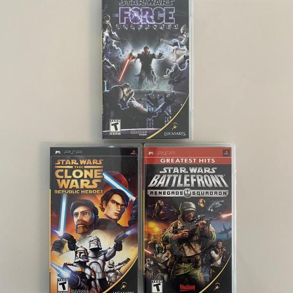 Psp - pacote star wars - 3 jogos