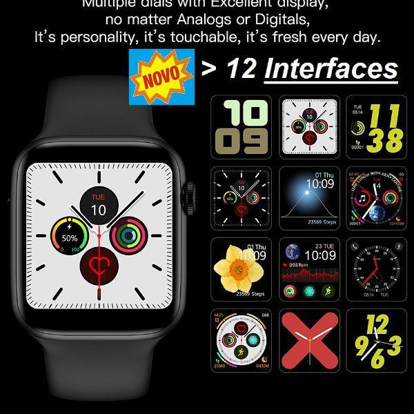 Relógio smartwatch completo pressão coração passos