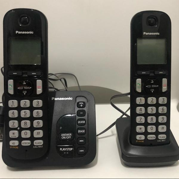 Telefone sem fio com ramal e secretária eletrônica
