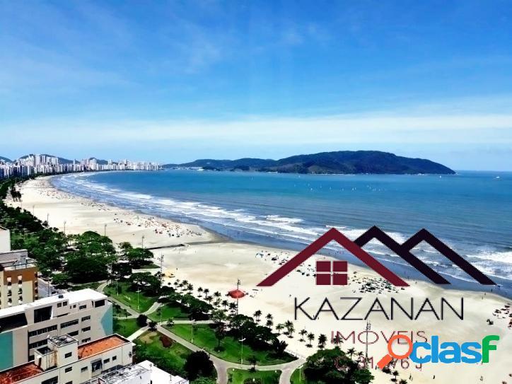 Apartamento - ed: unlimited ocean front - santos - vista total do mar