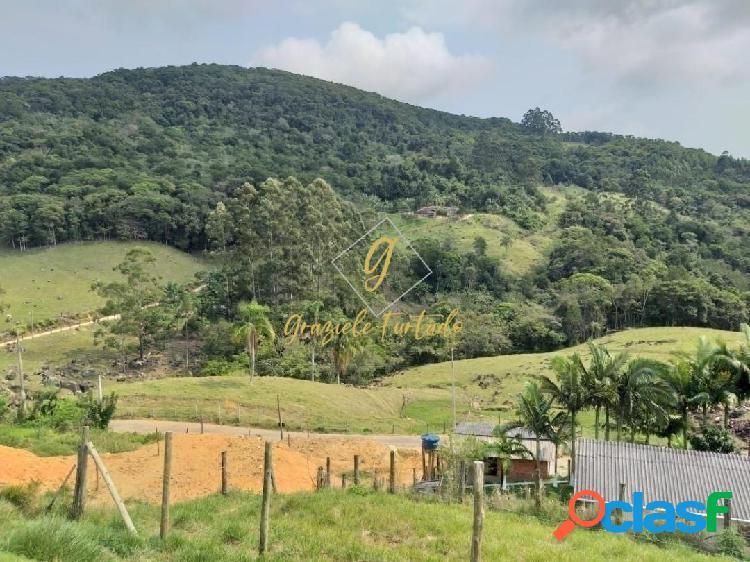 Terreno rural localizado bairro beira rio - biguaçú - sc