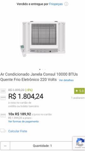 Ar condicionado quente/frio 10.000btu