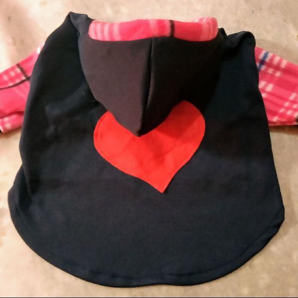 Blusa pet de moleton com capuz