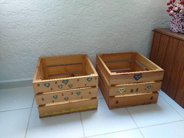 Caixa organizadora de brinquedos/ outros, em